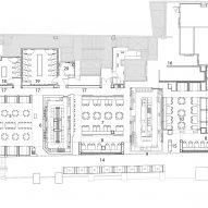 Floor plan of Babylon restaurant and bar by Hoggs & Lamb