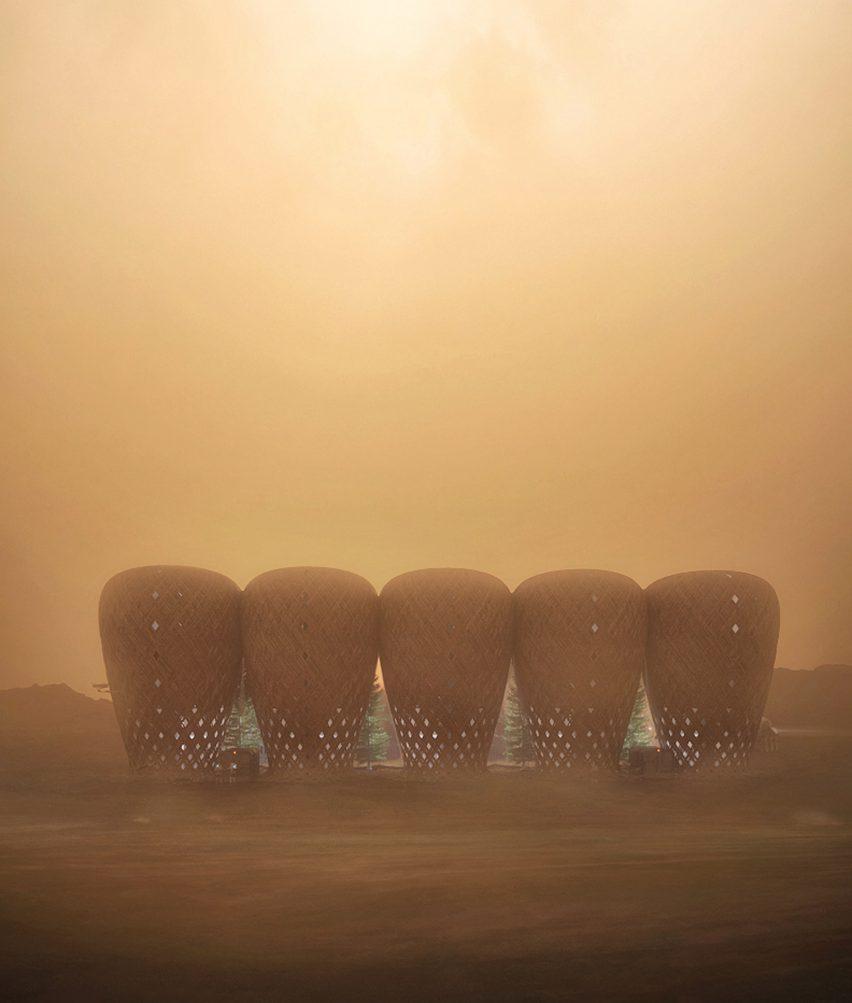 Seed of Life bamboo Mars colony by Warith Zaki and Amir Amzar