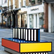 Walala Lounge on South Molton Street, London, by Camille Walala