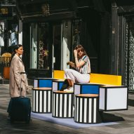 "Camille Walala transforms London street into colourful ""urban living room"""