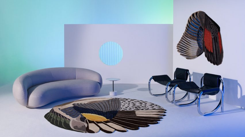 Feathers by Maarten De Ceulaer from the Cc-Tapis Spectrum catalogue.