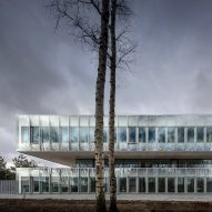 Kaan Architecten and Pranlas-Descours Architect and Associates design stacked glass Eurartisanat headquarters in Lille
