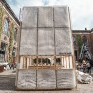 IKEA mattresses used to build pop-up bar at Chart fair in Copenhagen