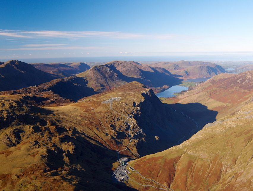 Aerial photograph of Honister Pass towards Buttermere Classic of Samling Hotel in the Lake District competition