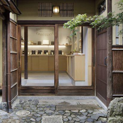 Fumihiko Sano Studio creates cedar-lined chocolate cafe in Kyoto