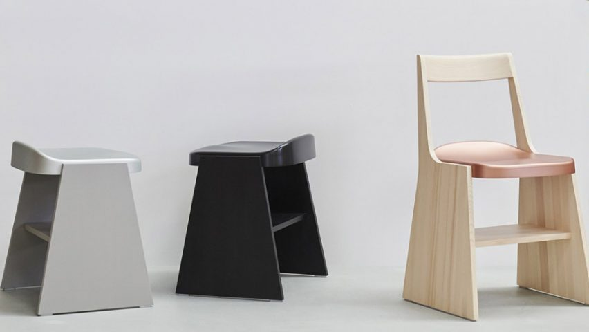Fronda chair and stool by Industrial Facility for Mattiazzi