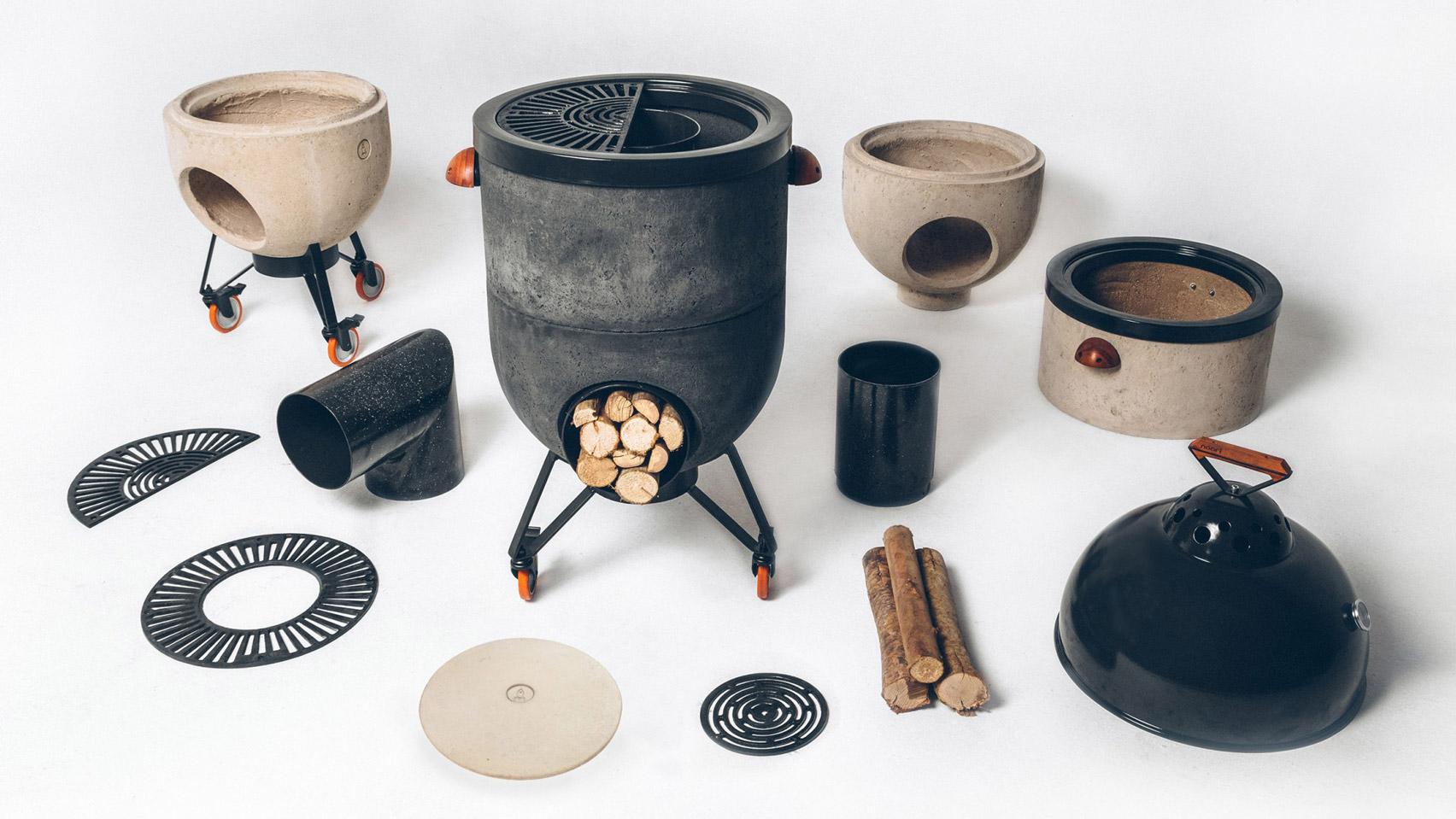 Multipurpose barbecue grill fire by Noori