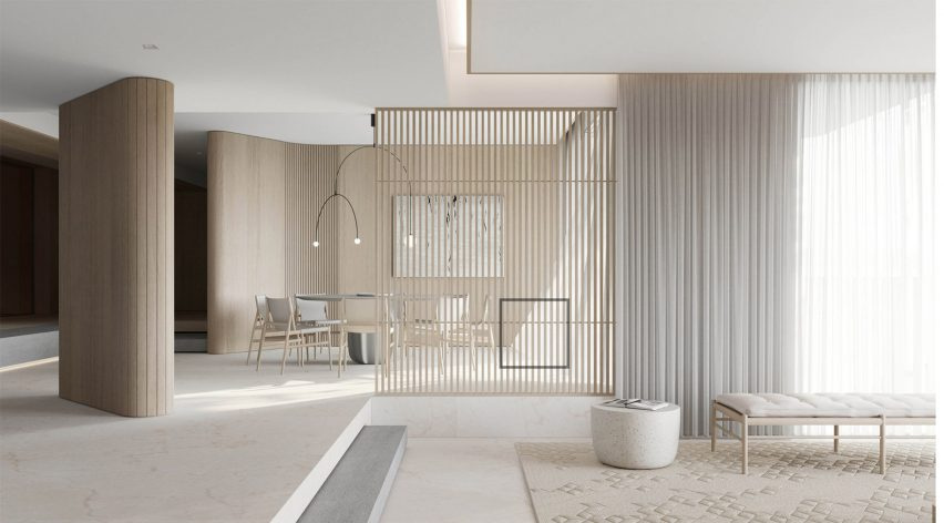 Interior shortlisted for Dezeen Awards disqualified: Nassim Mansion by 0932 Design Consultants