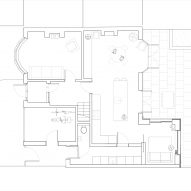 Floor plan of Illustrator's Botanical House by Intervention Architecture