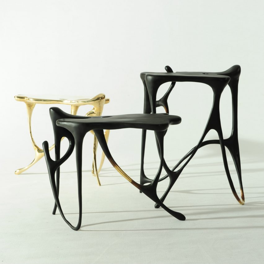 Chinese ink paintings come alive in Apiwat Chitapanya's wax-cast furniture