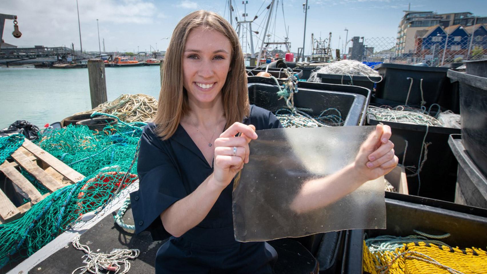 UK student's fish-waste bioplastic MarinaTex wins 2019 James Dyson Award top prize
