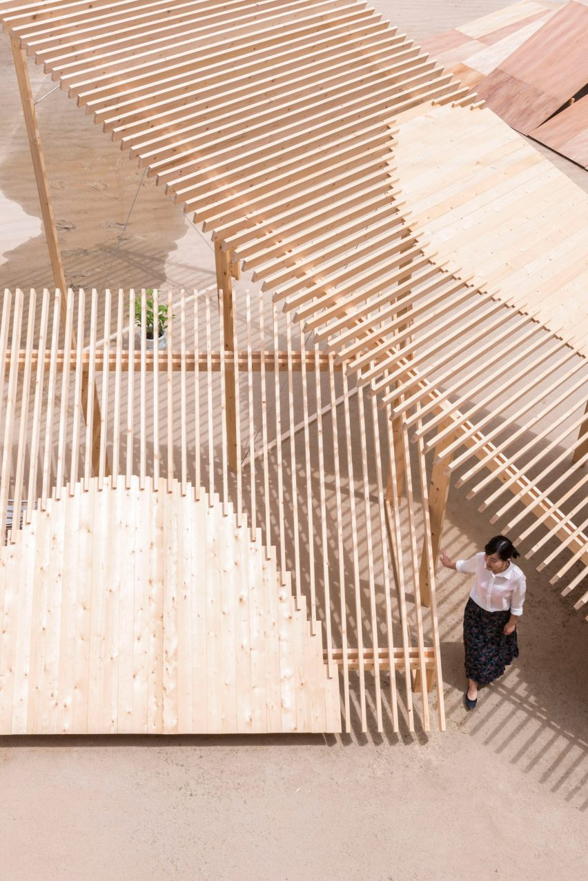 Kagerou Village by Tato Architects, Martinez Barat Lafore Architects, Ludwig Heimbach, Hiroshi Kato, Sven Pfeiffer and Dot Architects at the Kyoto Art Centre, Japan