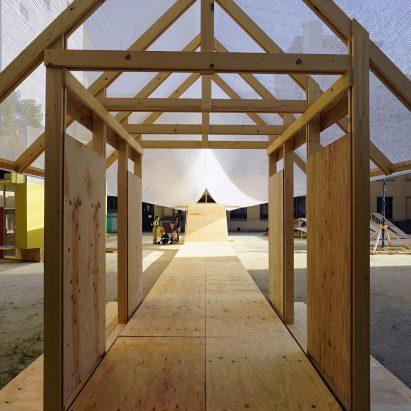 Kagerou Village by Tato Architects, Martinez Barat Lafore Architects, Ludwig Heimbach, Hiroshi Kato, Sven Pfeiffer and Dot Architects at the Kyoto Art Centre, Japan
