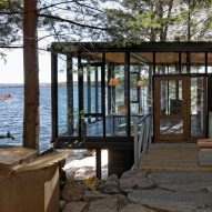 Building Arts Architects creates remote glass boathouse on Ontario lake