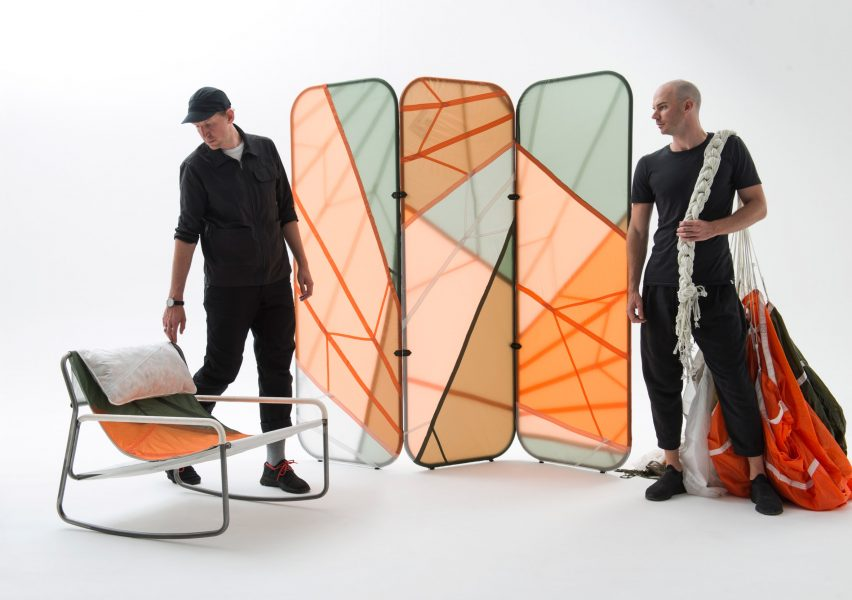 Layer and Raeburn create furniture collection from recycled parachutes