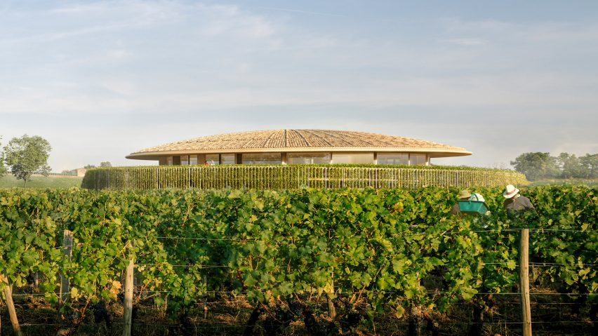 Le Dôme winery designed by Foster + Partners for Saint-Émilion, France