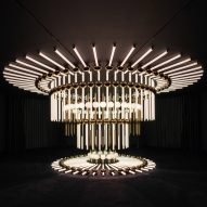 Lee Broom creates kaleidoscopic light installation in London showroom
