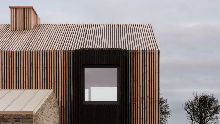 Bureau de Change covers Long House with ombré effect charred