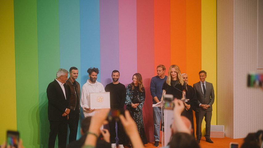 Winner of Karl Lagerfeld Prize Hed Mayner at LVMH 2019