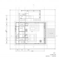 Ground floor plan of M House by Takeru Shoji Architects