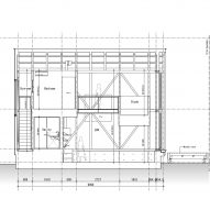 Section B-B of M House by Takeru Shoji Architects