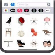 Midcentury Emojis feature Hans J Wegner and Charles and Ray Eames furniture