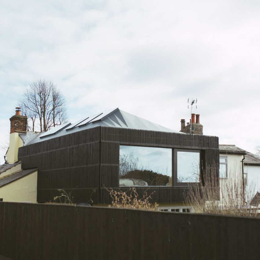 Studio Bark's first flat-pack U-build system used for a home extension in Essex
