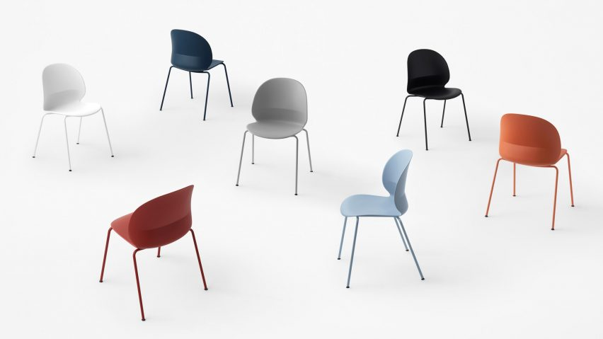 Nendo designs N02 Recycle chair for Fritz Hansen from household plastic waste
