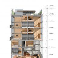 Section of Origin Villa Hotel Far&Near by Kooo Architects