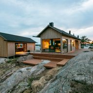 Self-sustaining cabins on tiny Finnish island are heated by a sauna stove