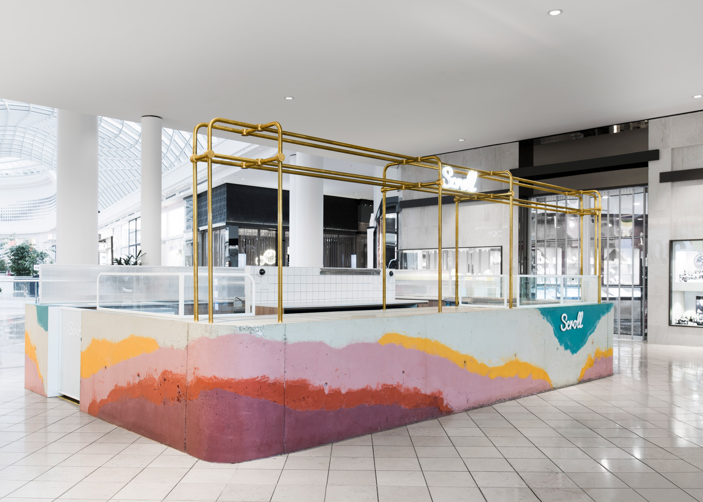 Scroll ice cream stand by One Design Office and Studio Twocan