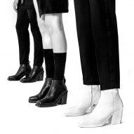 Rem D Koolhaas and supermodel Shaun Ross launch unisex high-heel boot
