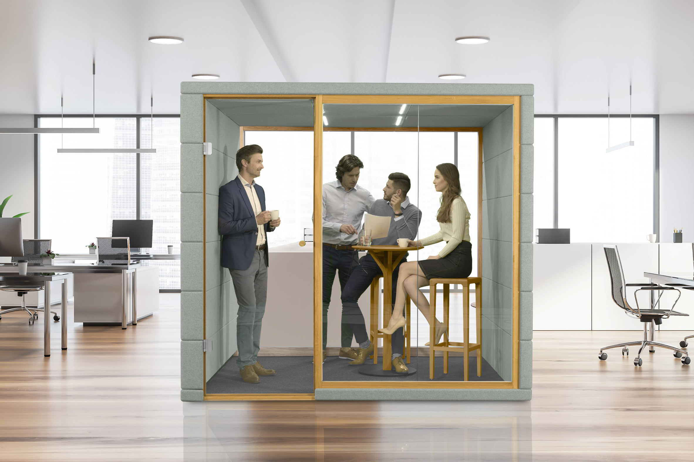 SilentLab unveils collection of standalone MicroOffices to shield workers from