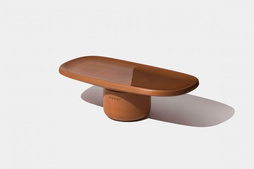 Italian designer Simone Bonanni designed the Hana armchair and Obon tables for Dutch brand Moooi