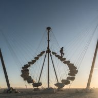 "Benjamin Langholz's circular staircase at Burning Man creates ""an alternate reality"""