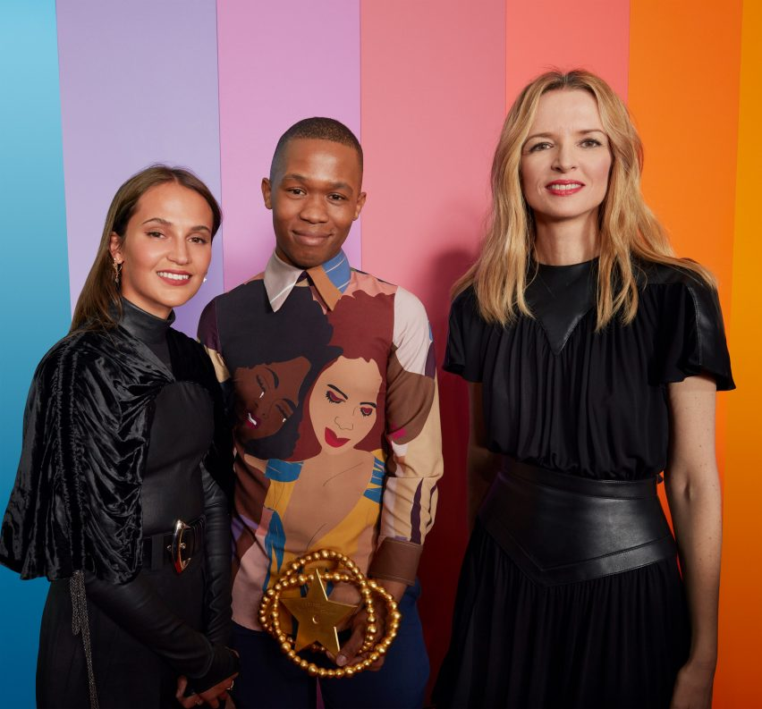 Winner of Grand Prize Thebe Magugu at LVMH 2019