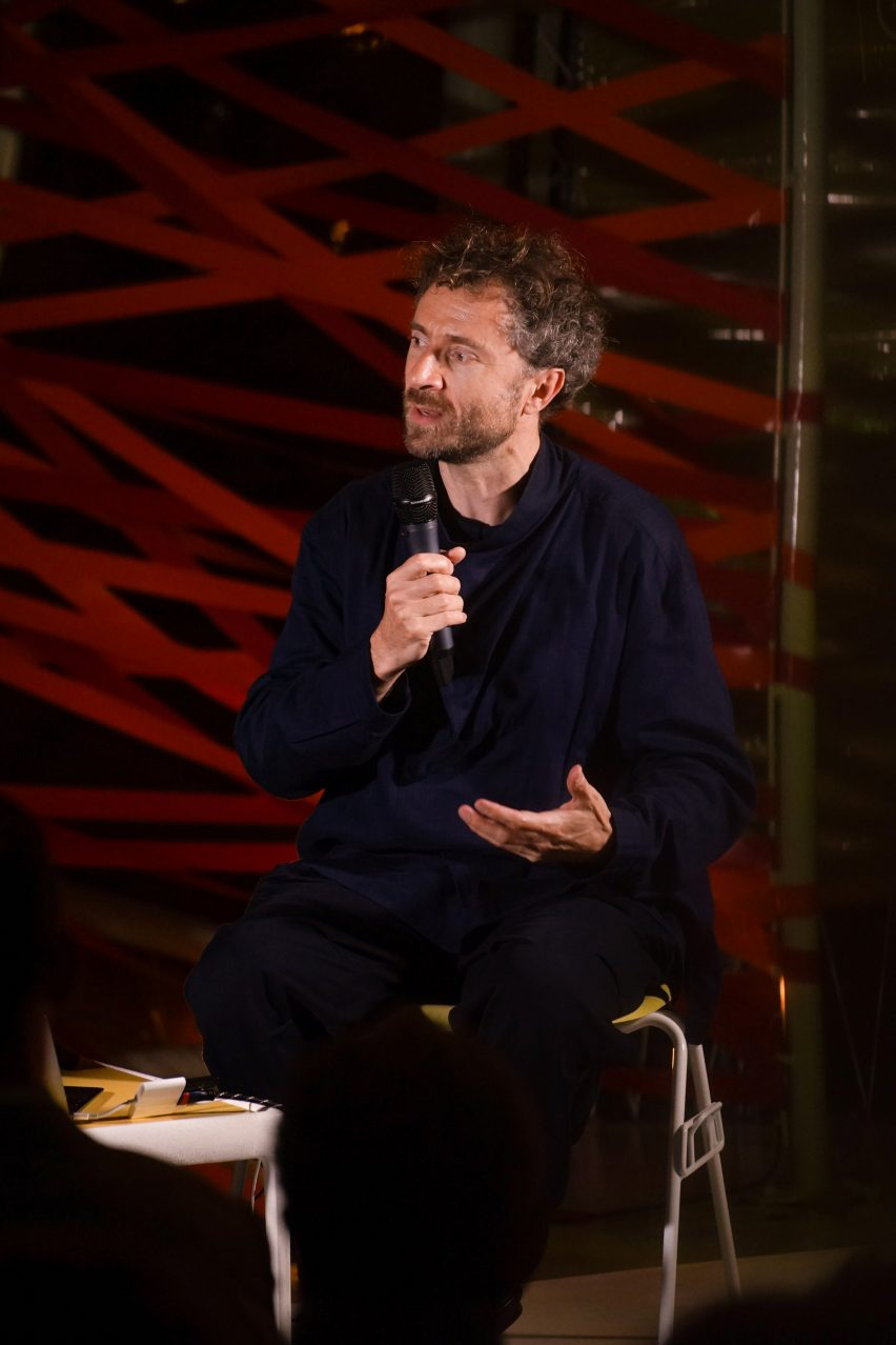 Thomas Heatherwick spoke to Marcus Fairs in a talk hosted by Dezeen and Second Home