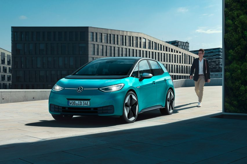 Volkswagen ties in new electric ID car line with company rebrand