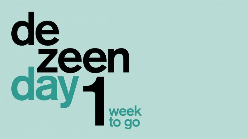 One week to go until Dezeen Day