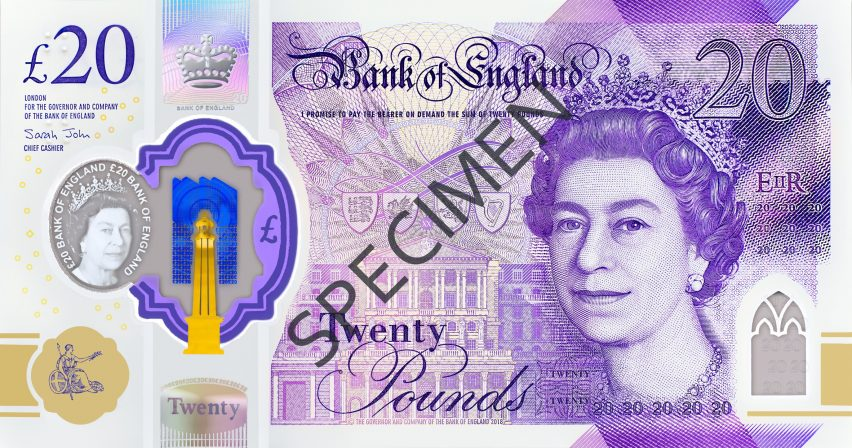 "Britain's new £20 note is its ""most secure"" to date"