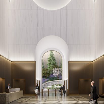 550 Madison lobby by Gensler