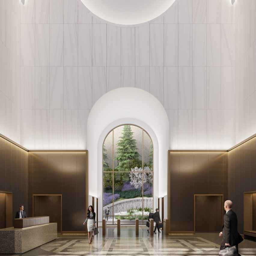 550 Madison lobby by Gensler