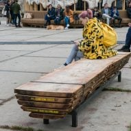 Atelier NL creates benches from storm-felled trees for Dutch Design Week