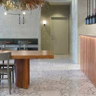Lot 1 Design creates calming green interior for Sydney restaurant