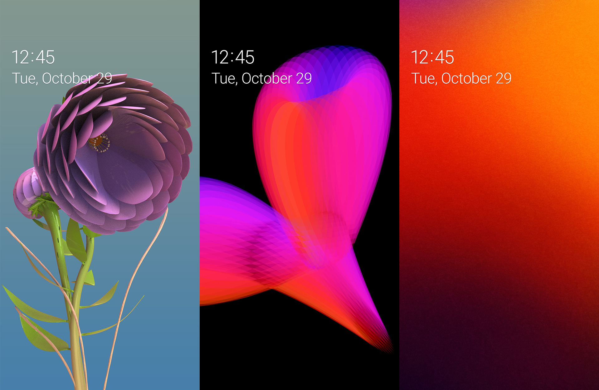 Top Three Wallpaper Designs In The Samsung Mobile Design Competition