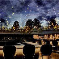 Planetarium-style ceiling arches over diners inside Copenhagen's Alchemist restaurant