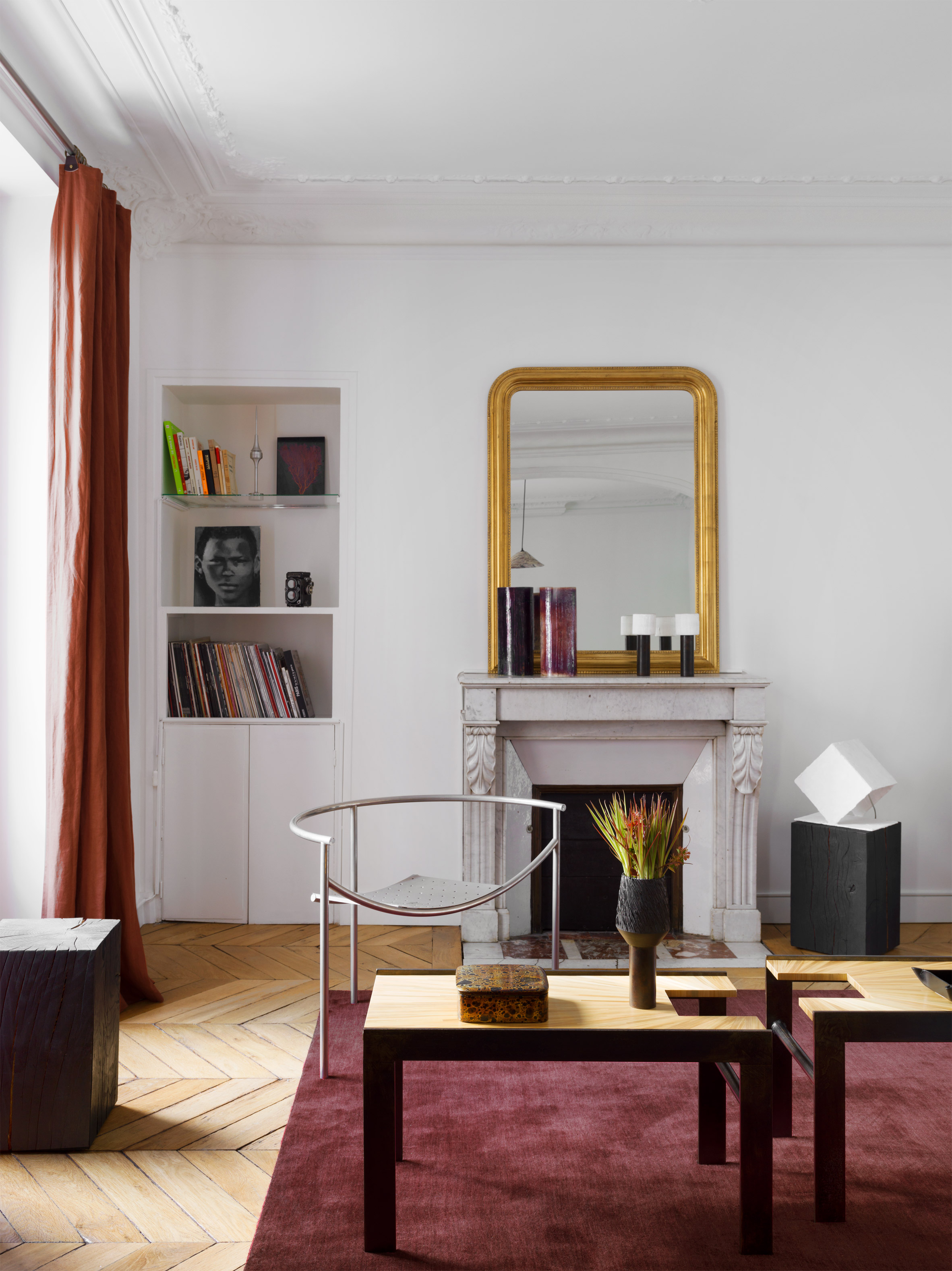 Apartment Paris Marais living and dining room by Sophie Dries