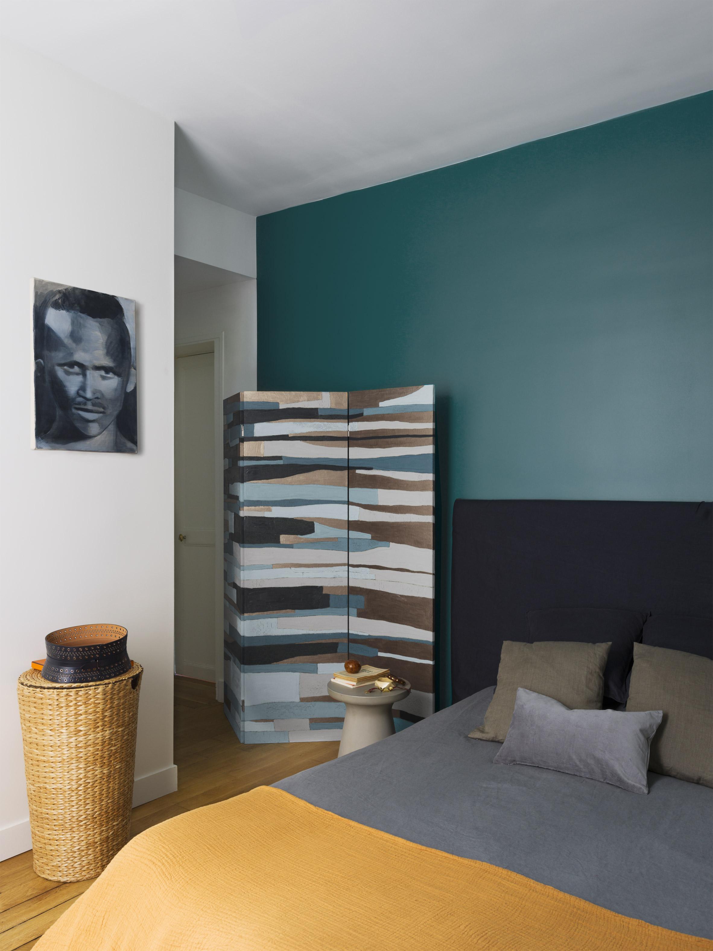 Apartment Paris Marais master bedroom by Sophie Dries