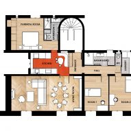 Apartment Paris Marais floor plan by Sophie Dries