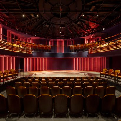 Boulevard theatre by Soda featuring a revolving auditorium